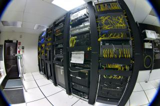 Data Center with Red...