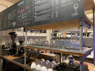 Modern Coffeehouse at Corner Location in Manhattan